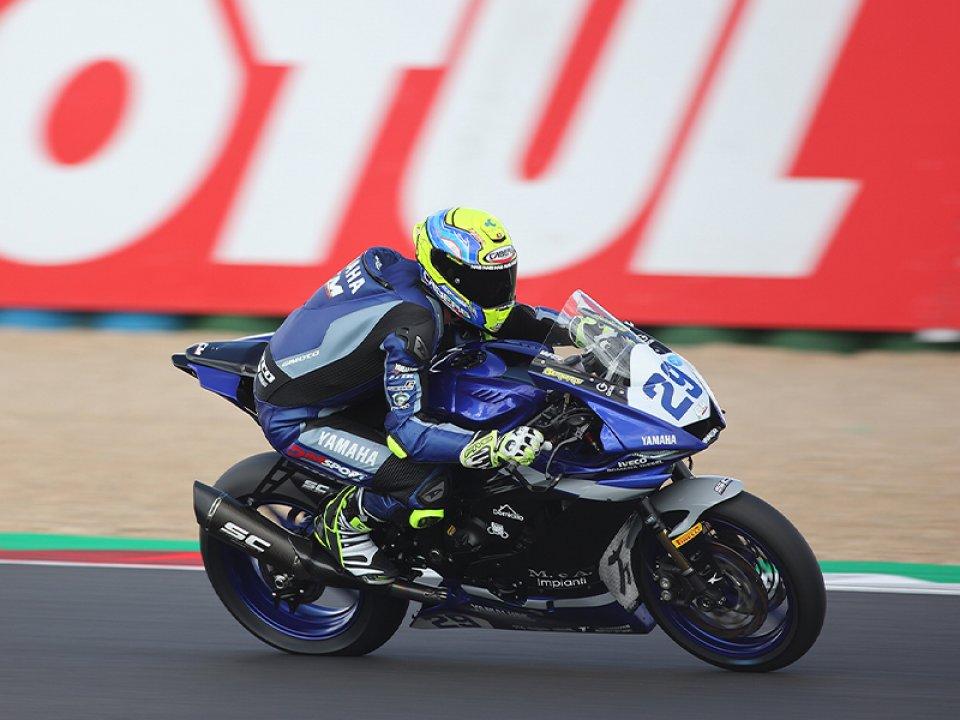 SBK: Magny-Cours, Bernardi in pole nella SSP 600, Aegerter 2°