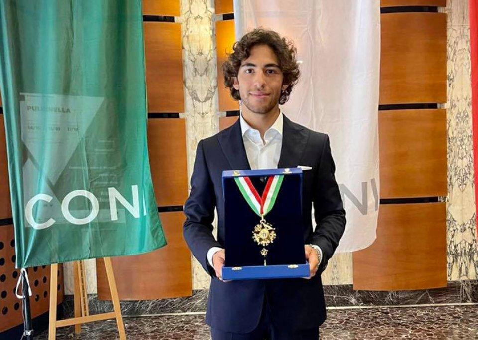 MotoGP: Enea Bastianini ha ricevuto il Collare d'Oro dal CONI