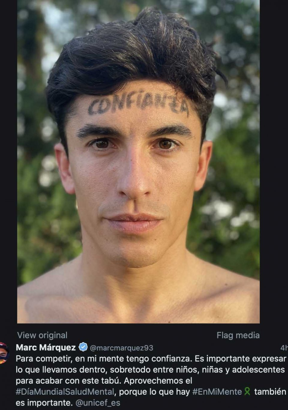 MotoGP: Marquez lancia un messaggio per l'Unicef: la fiducia è importante