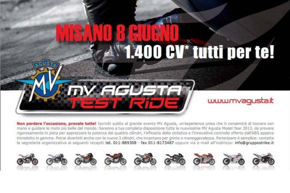 Mv Agusta mette a disposizione 1400 CV a Misano