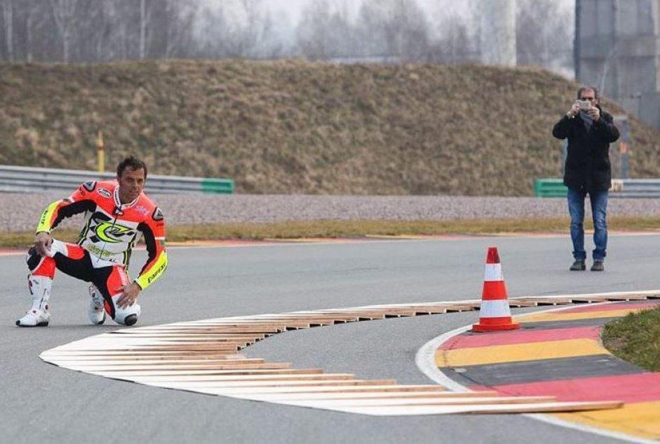 Iannone fa l'esame al Sachsenring