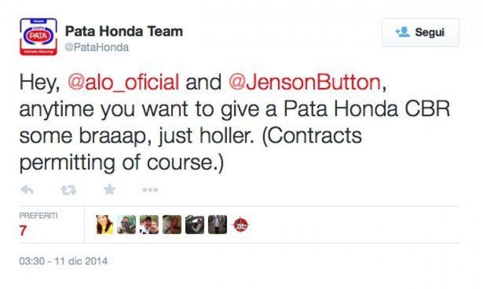 Honda invita Alonso e Button su due ruote