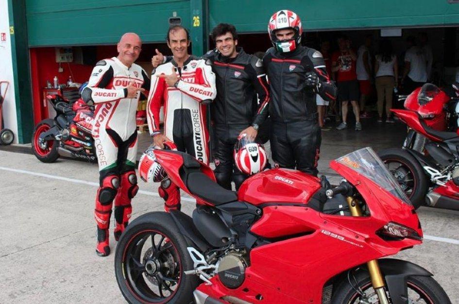 Pirro in sella alla Ducati...ma è il grande Emanuele!