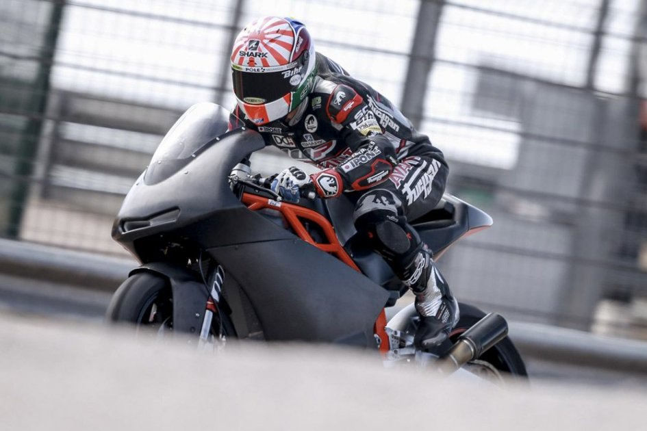Zarco tests the KTM Moto2 at Aragon