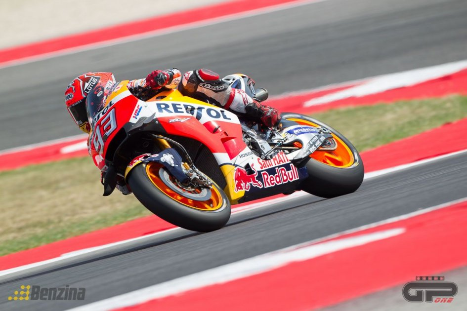 Marquez and Pedrosa at Misano with the 2017 engine