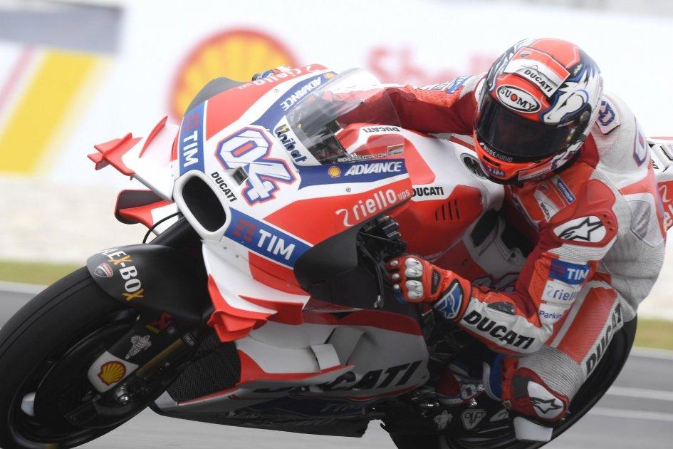 QP: Dovizioso porta in pole la Ducati sul bagnato
