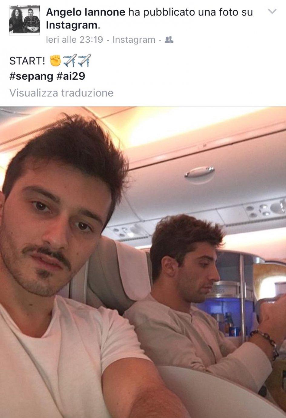 Andrea Iannone in volo per il GP della Malesia