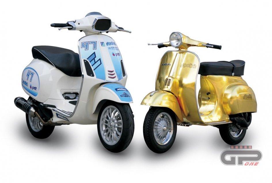 Polini 23 K Gold Vespa and Polini 171cc 4 Stroke Vespa4T