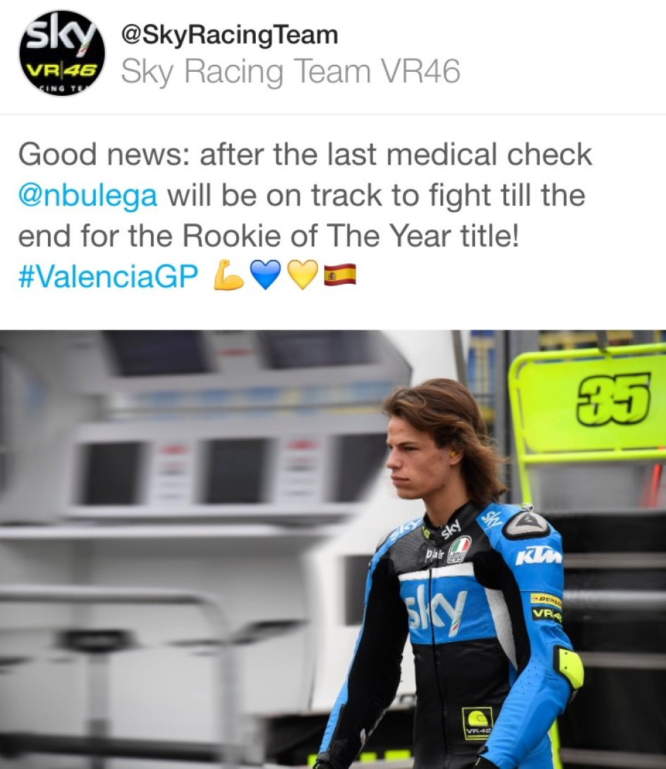 Bulega to Valencia to win the 'Rookie of the Year'