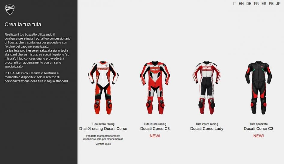 Ducati: ducatisumisura.com two new models gpone.com
