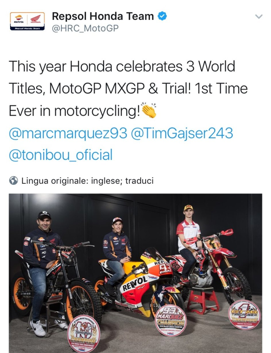 This year Honda celebrates three titles at Motegi