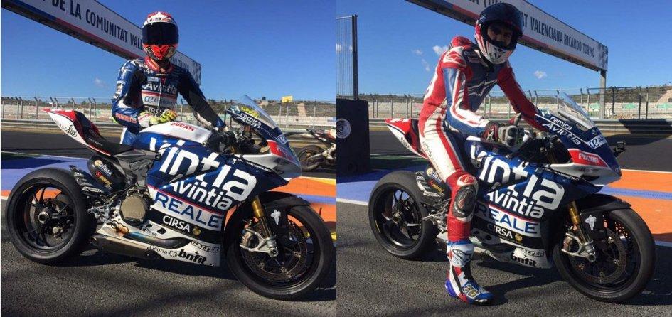 Barbera e Baz a Valencia sulla Ducati Panigale