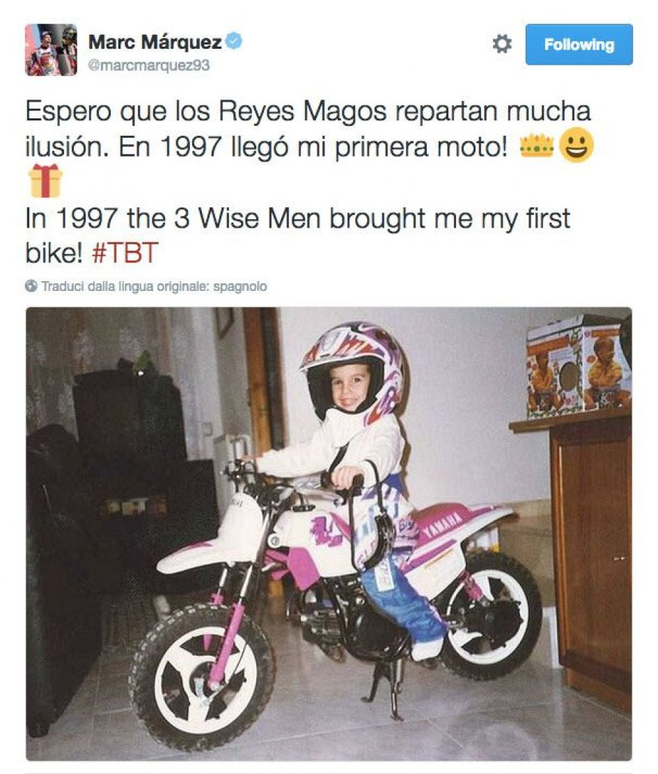 Marquez and bikes: it's all the Befana's fault
