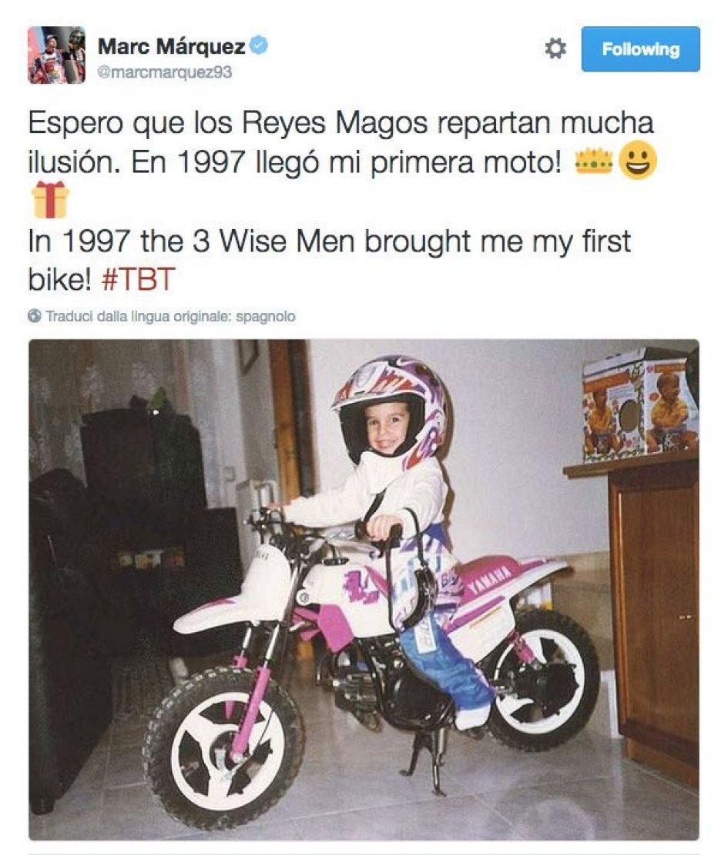 Marquez e le moto: tutta colpa... della Befana
