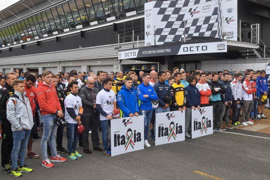 La MotoGP dona 12mila euro ai terremotati italiani