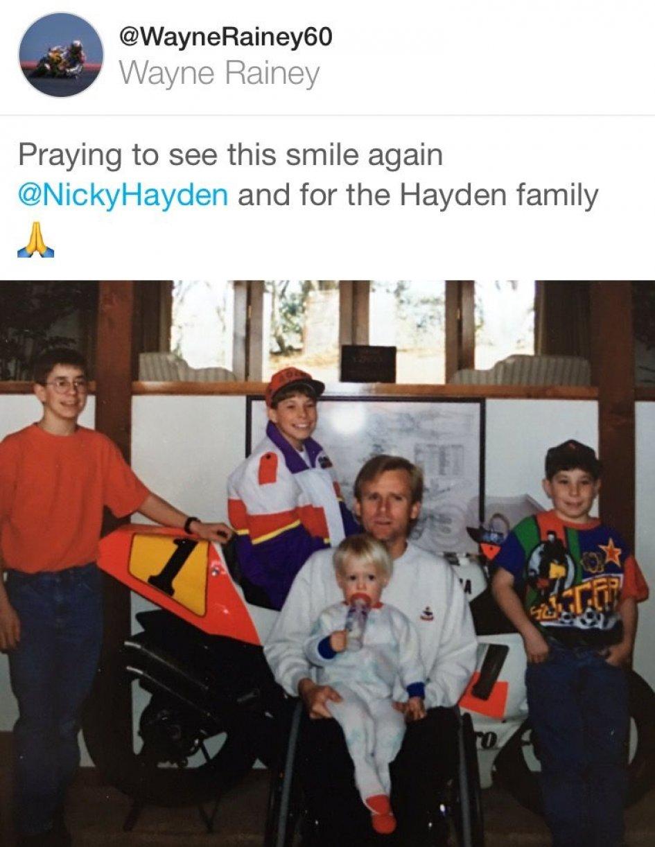MotoGP Wayne Rainey Nicky voglio rivedere il tuo sorriso