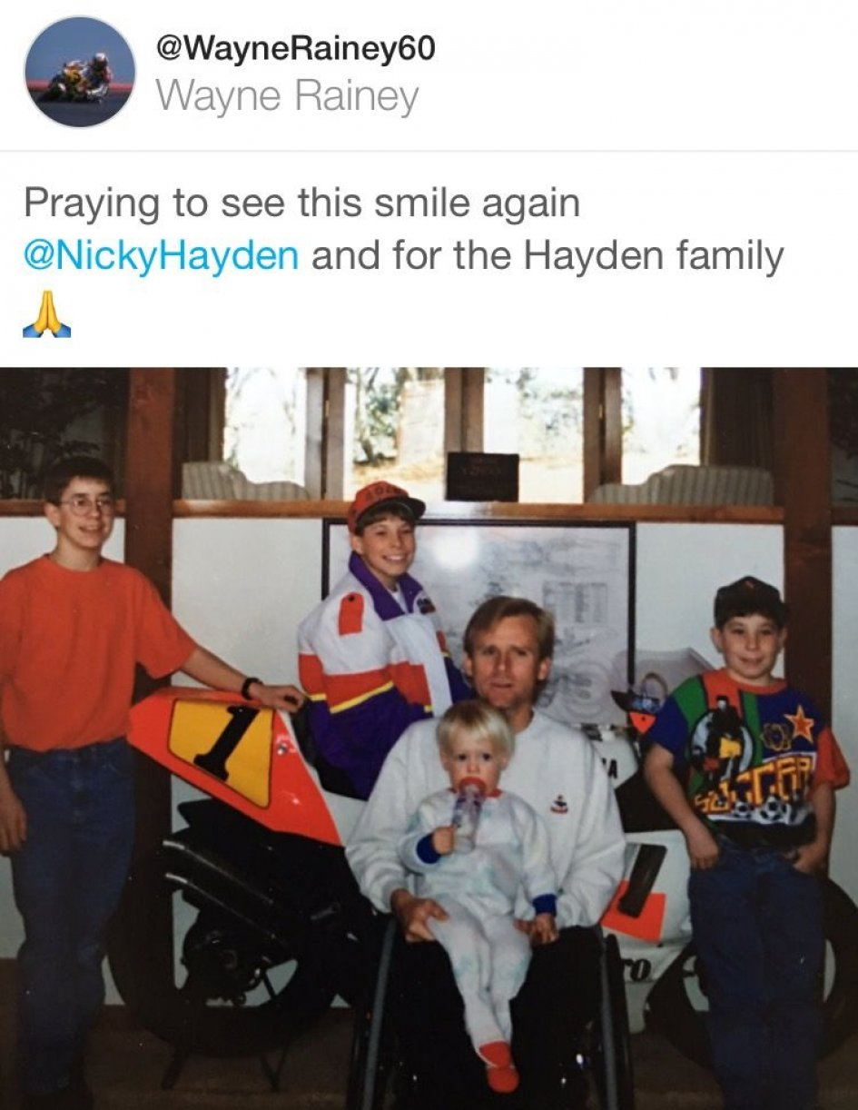 MotoGP: Wayne Rainey: Nicky I want to see your smile again