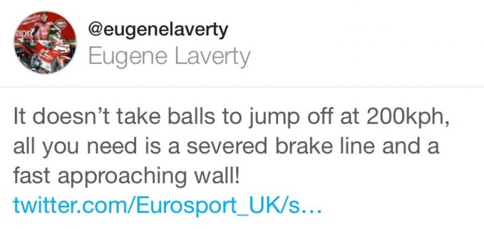 SBK: Laverty on twitter: it doesn't take balls!