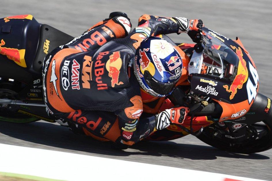Moto2: Marquez in pole, prima fila per Pasini e Baldassarri
