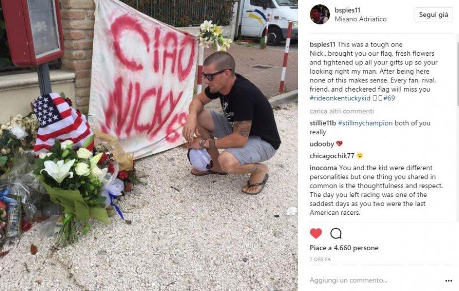 MotoGP: Ben Spies hails Hayden on the scene of the accident