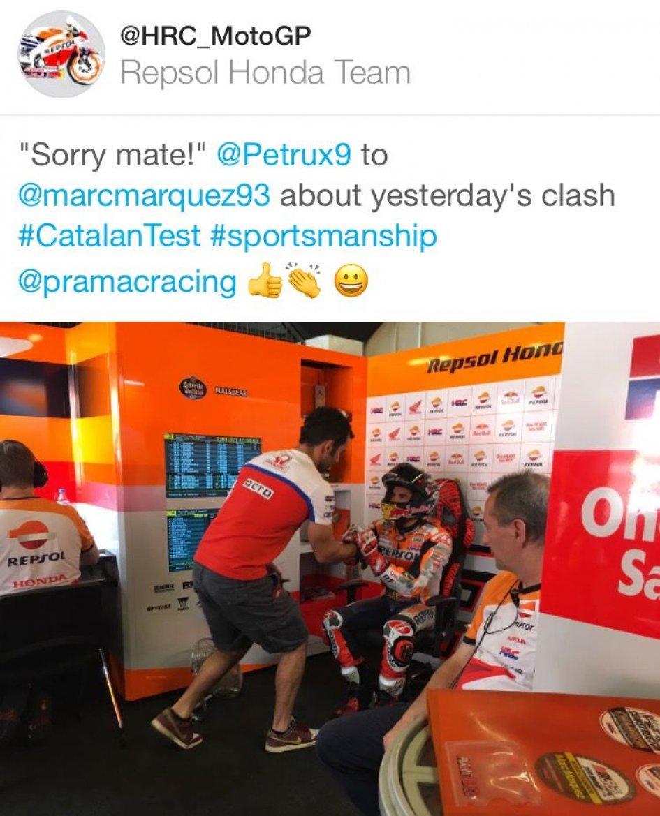 MotoGP: Danilo Petrucci apologizes to Marc Marquez