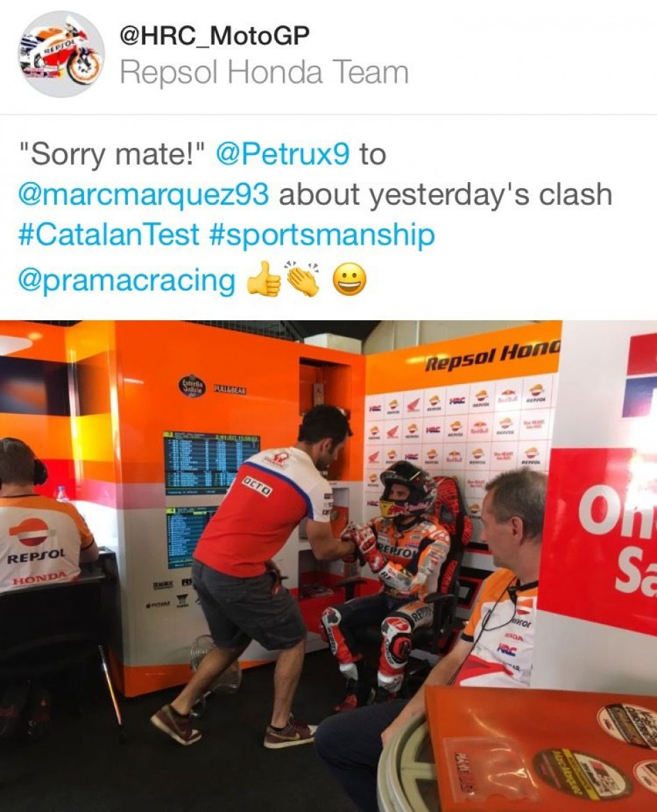 MotoGP: Danilo Petrucci apologizes to Marc Marquez