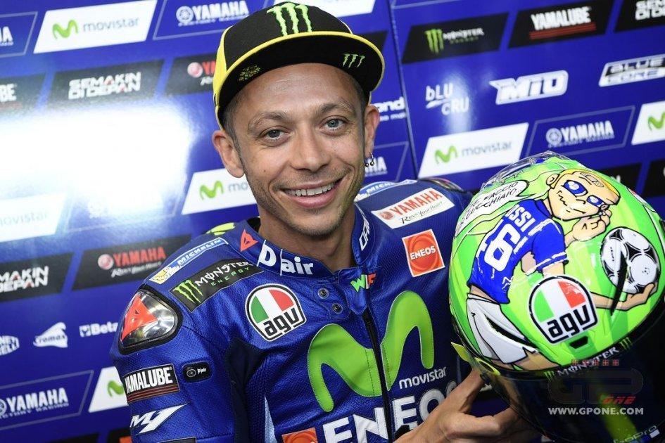 MotoGP: Rossi al Mugello onora Hayden e Totti