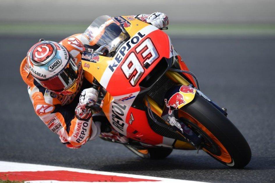 MotoGp Barcellona: Marquez davanti, Rossi e Vinales costretti alla Q1