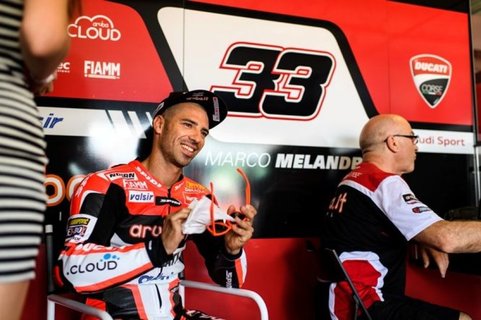 "SBK: Melandri: ""thinking about it, I shouldn't have pushed"""