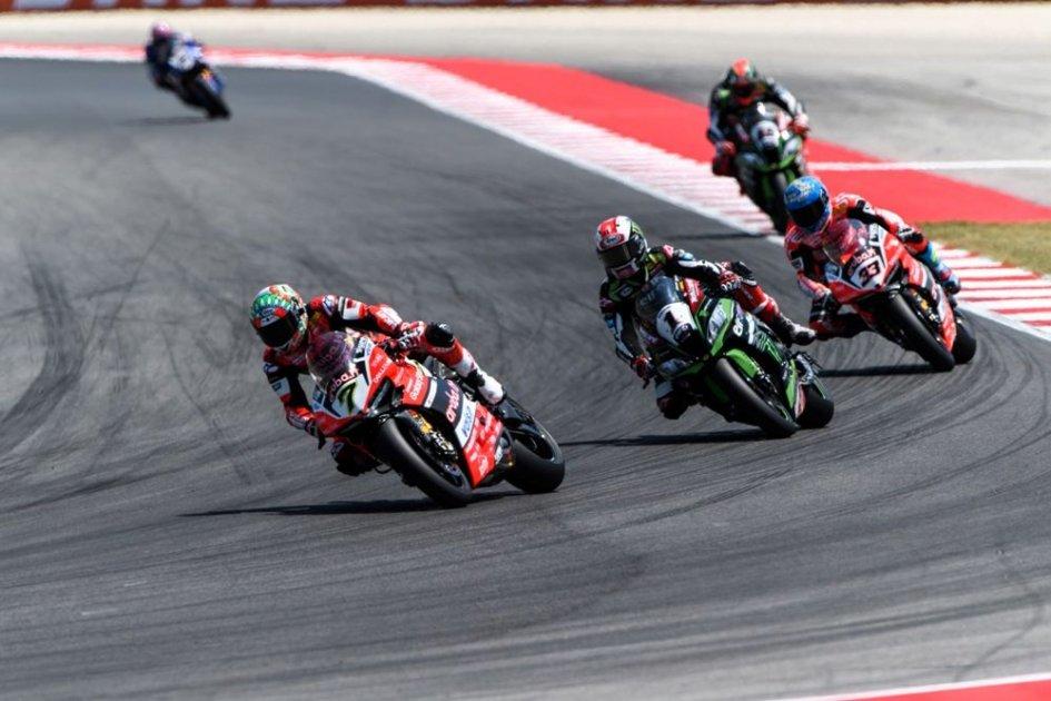 SBK: Aprilia, Ducati and Kawasaki in action on the Lausitzring