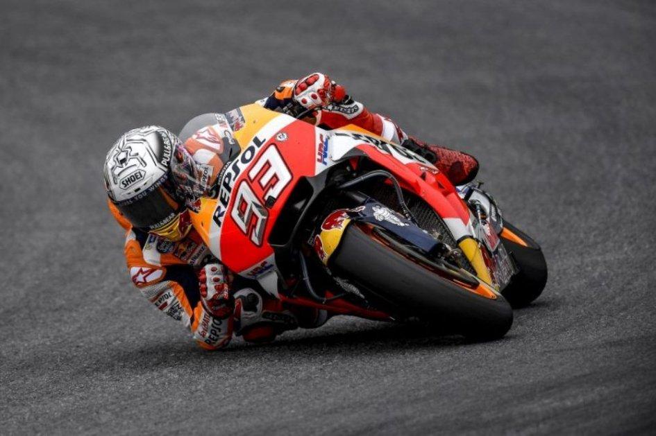 MotoGP: Marquez, che fulmine in FP3! 5° Rossi, 6° Dovizioso
