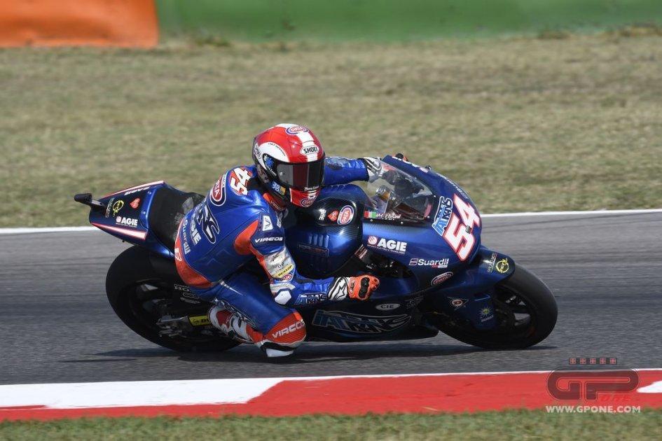 Moto2: Pasini remembers Sic at Misano by wearing his helmet