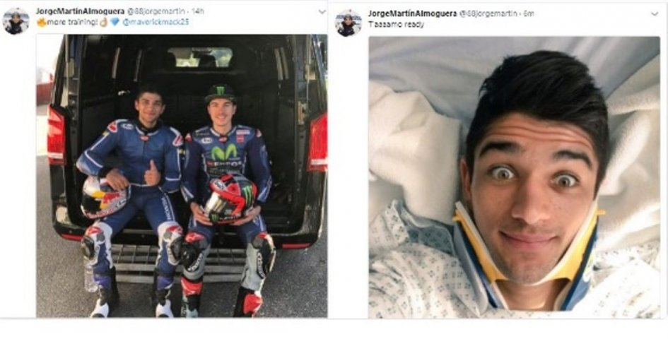 Moto3: Jorge Martin mystery: he publishes then removes injury photo