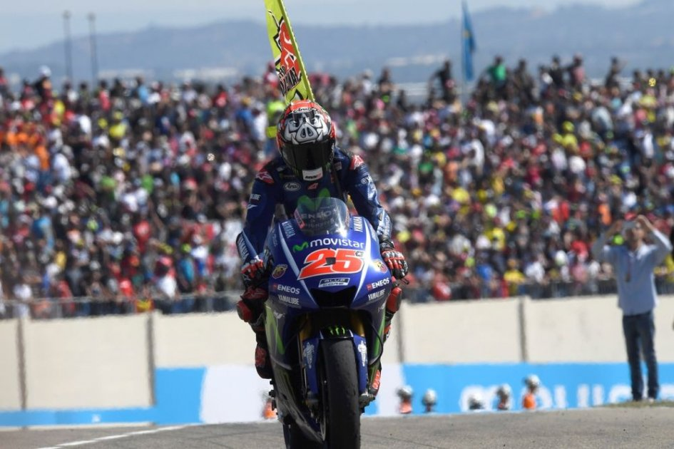 MotoGP Aragon: Vinales snatches pole with Rossi third