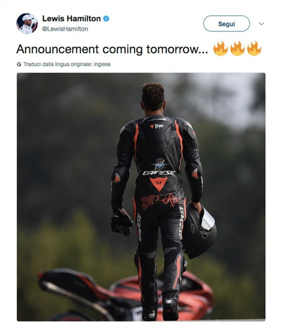 News: Hamilton and MV Agusta: the mysterious pair