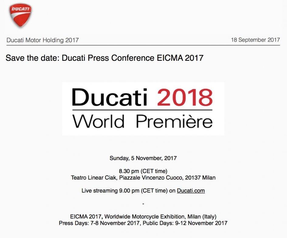 News: Ducati fissa la data del lancio della nuova V4 ad Eicma