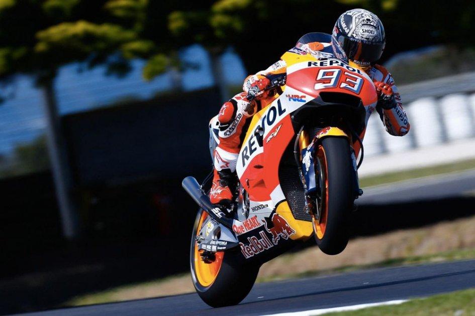 MotoGP: Test. Marquez all'attacco dell'Australia, Rossi risponde