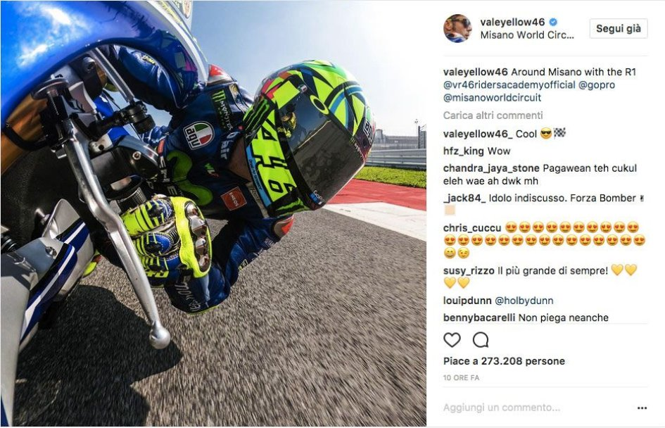 MotoGP: Rossi in pista a Misano prima del GP di Motegi