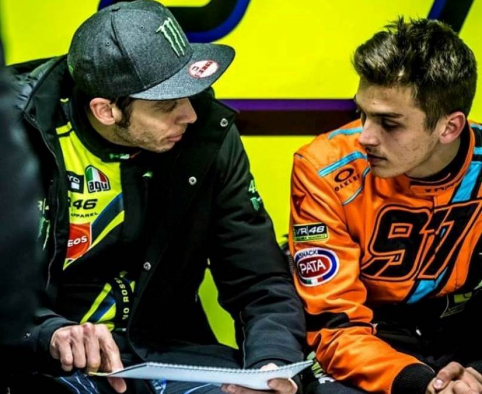 "Moto2: Marini: ""So scary to be in the passenger seat with Vale driving"""