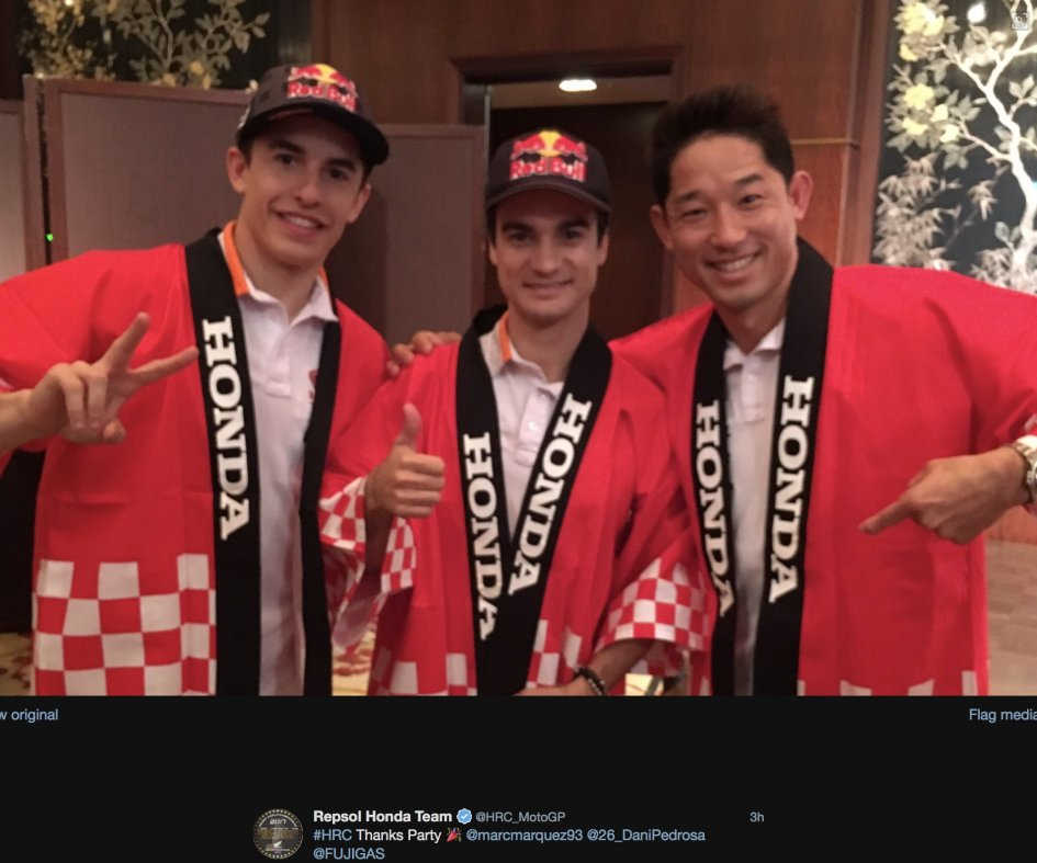 MotoGP: Marquez and Pedrosa in Japan for the 'Thanks Party' 2017