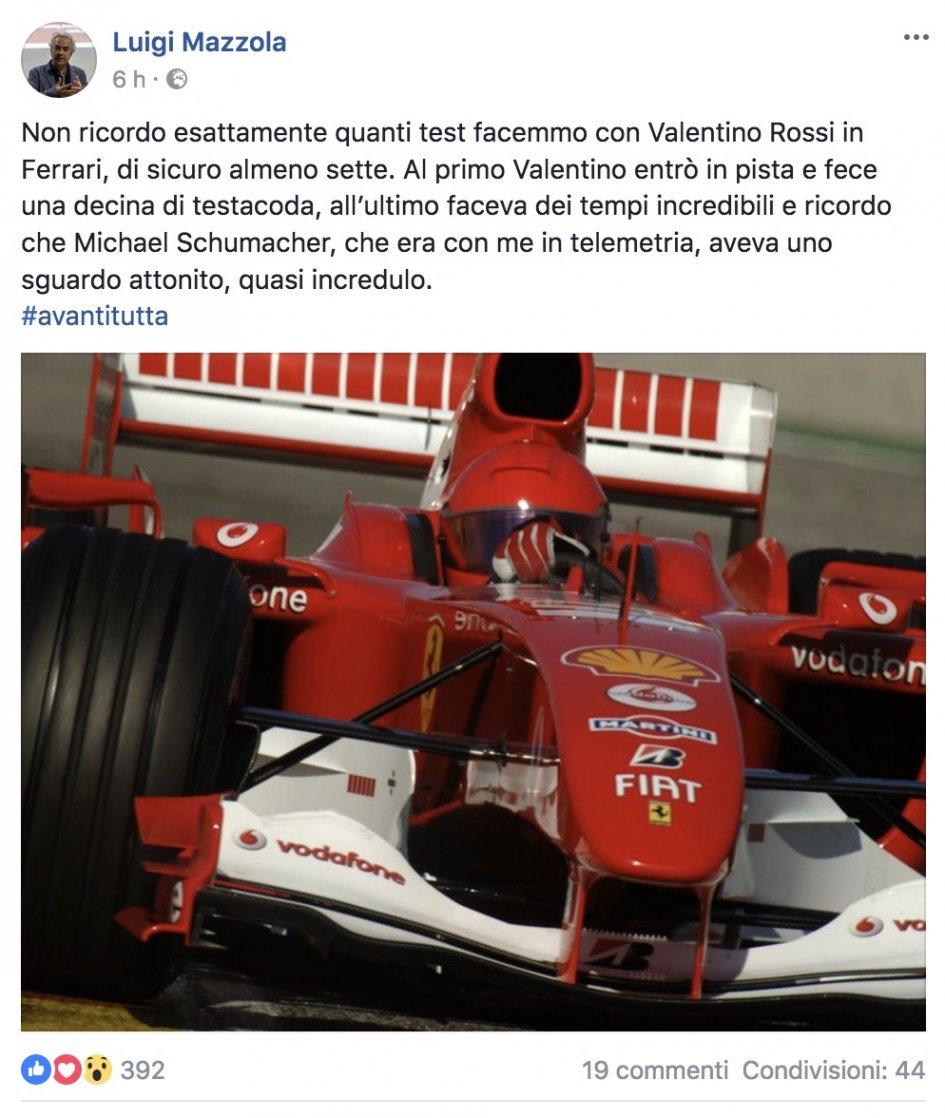 MotoGP: Quando Valentino Rossi stupì Michael Schumacher