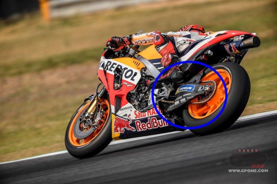 MotoGP: Carbon swingarm for Honda at Buriram
