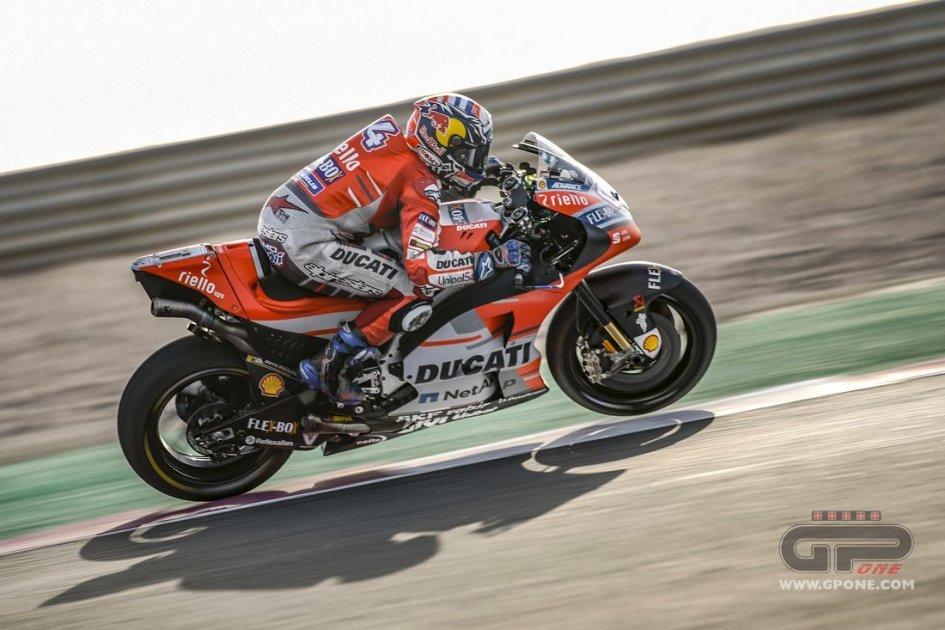 MotoGP: FP1: Doppietta tricolore a Losail con Dovizioso e Rossi