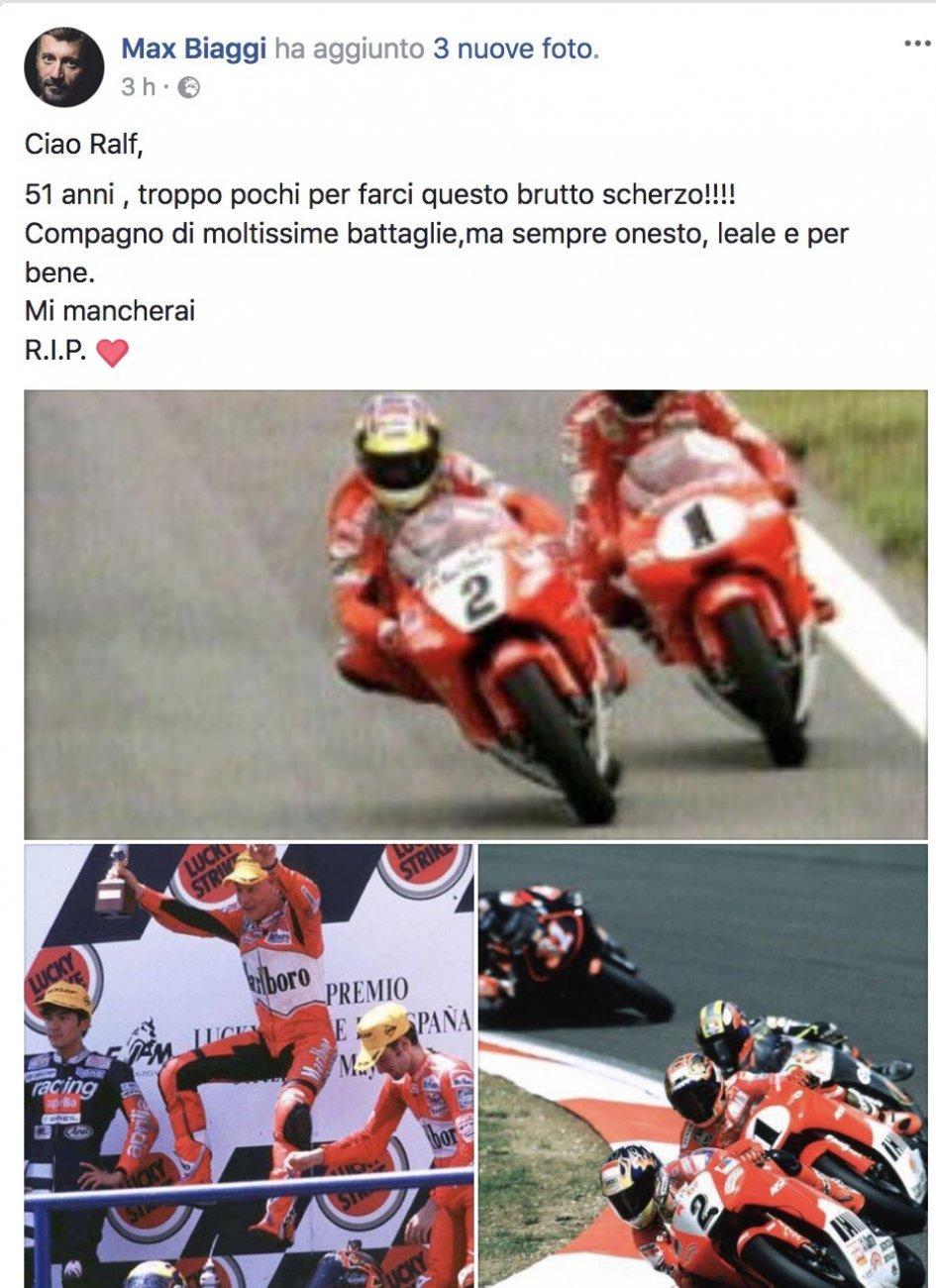 News: Biaggi, goodbye Ralf Waldmann, my friend