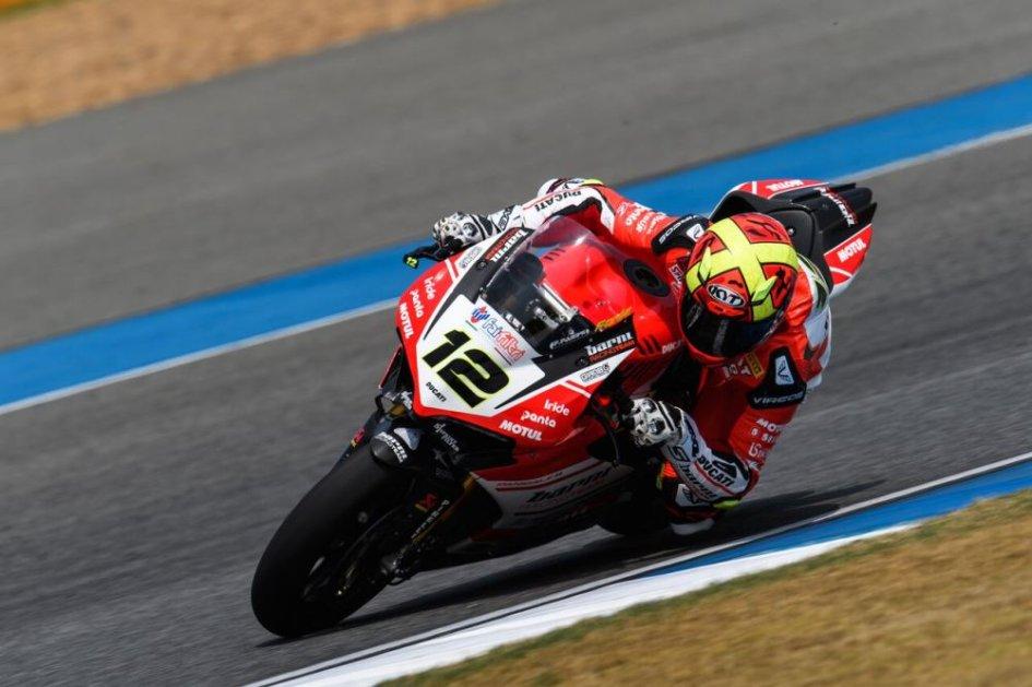 SBK: Ducati all'attacco nel warmup: 1° Forés, 2° Davies