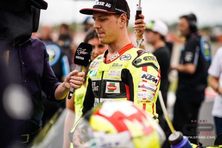Moto2: Frattura al bacino per Aegerter, non correrà a Jerez