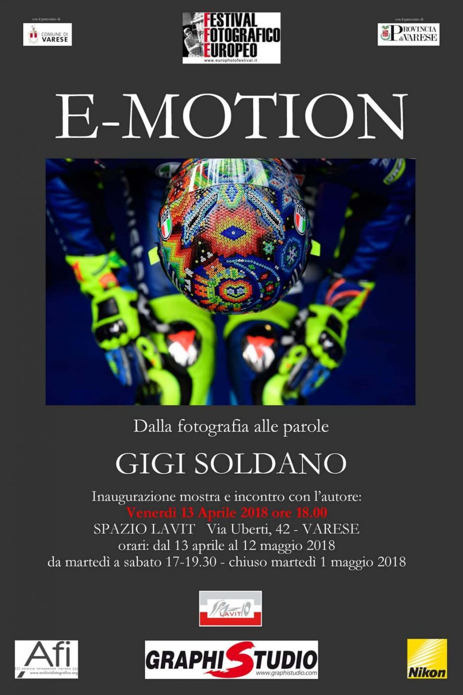 MotoGP: Gigi Soldano in mostra a Varese