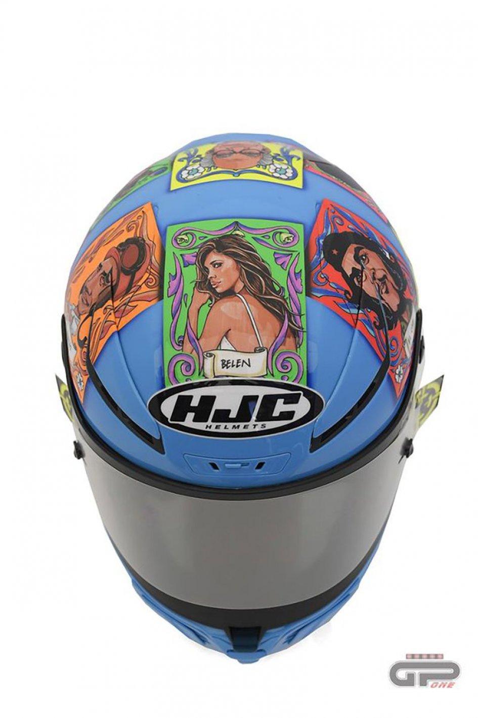 MotoGP: Iannone puts Belen, Evita, Monzon, el Che and ... Fangio on the helmet