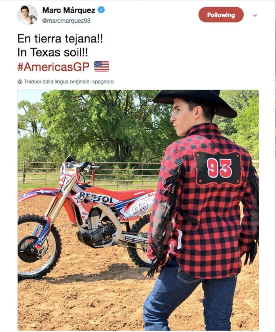 MotoGP: Marquez cowboy d'acciaio in Texas