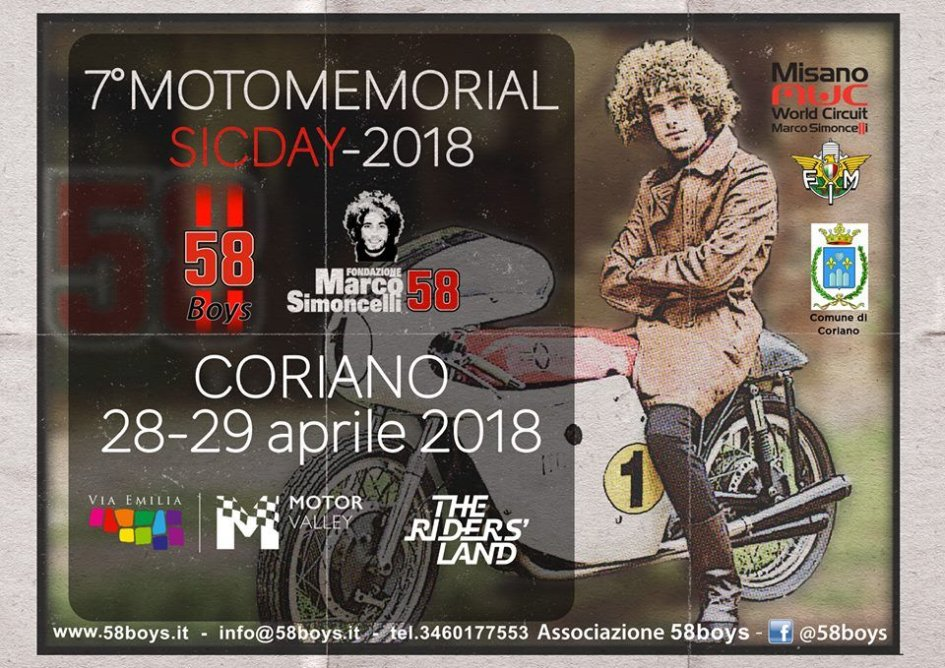 News: Torna a Coriano il Motomemorial Sic Day